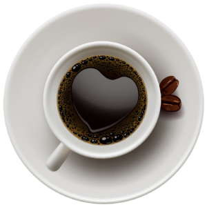 picture of a coffee cup filled with coffee and a heart in the middle of the coffee