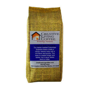 picture of the creative living coffee bold supreme roast with white background