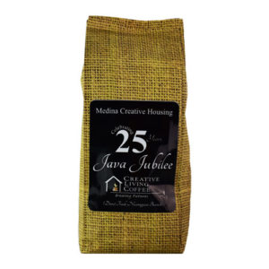 picture of the creative living coffee java jubilee 12oz coffee bag with white background