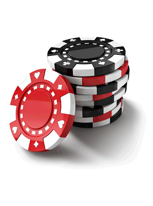 picture of a stack of red and black poker chips for the medina creative housings 2nd annual poker run to support disabled individuals